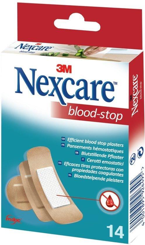 Nexcare™ Blood-Stop Bloedstop pleisters, huidkleurig, assortiment, 14 pleisters, N1714AS