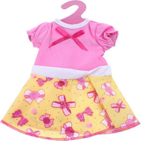 Johntoy Baby Rose Jurkje Strik Roze/geel 22 Cm