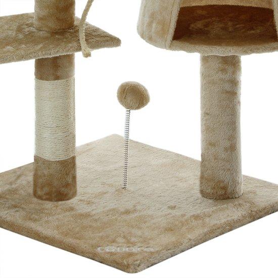 Krabpaal, kattenkrabpaal, kattenpaal, 112 cm, beige
