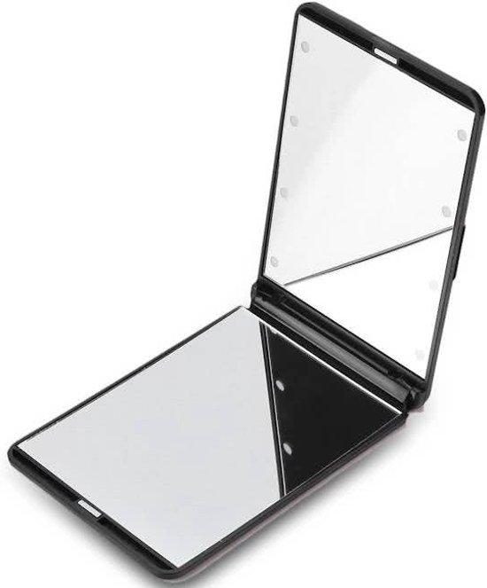 Make up spiegel met verlichting - LED spiegeltje - zwart