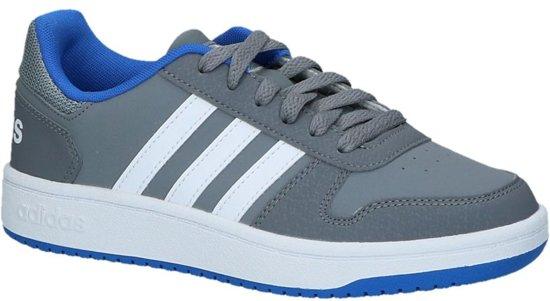 adidas Hoops 2.0 K Lage sneakers Jongens Maat 37 Grijs;Grijze Grey