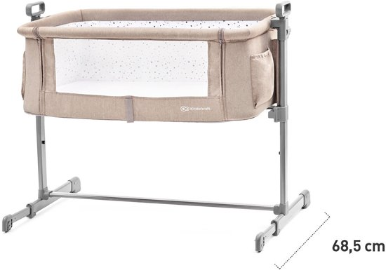 Kinderkraft Co Sleeper - Aanschuifwieg Neste Beige