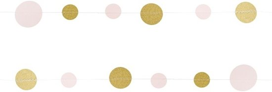 Ginger Ray Pastel Perfection - Confetti slinger - Pastel roze/goud - 5 meter Valentinaa