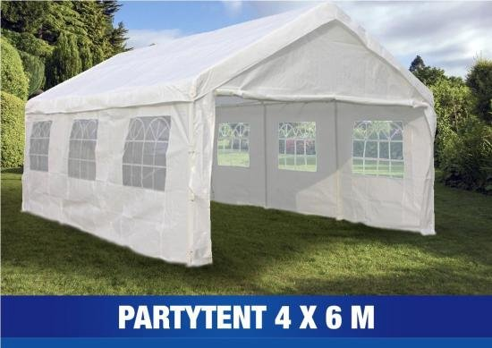 partytent 4x6 meter stevig en waterdicht. Black Bedroom Furniture Sets. Home Design Ideas