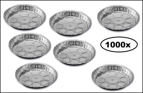 1000x Schaal aluminium rond 15cm boterkoek 400ml