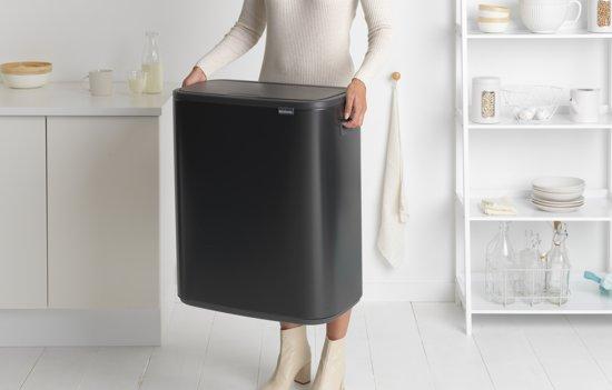 Brabantia Bo Touch Bin 2 x 30 Liter Mat Zwart