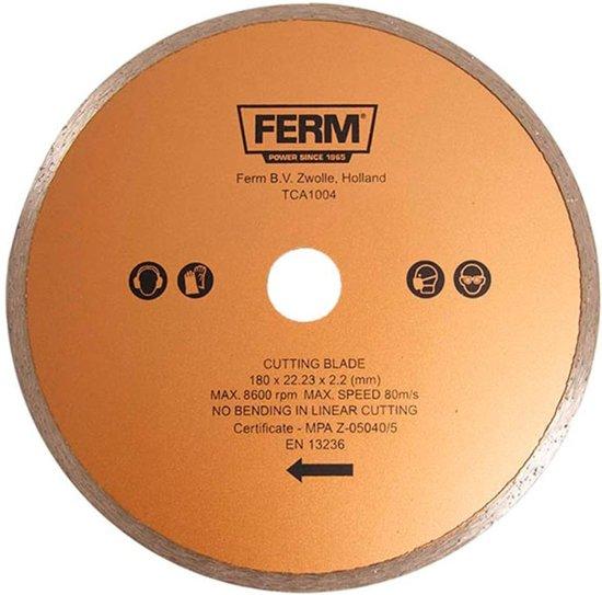 FERM Diamant zaagblad 180x22,2 - Voor TCM1010 - TCA1004