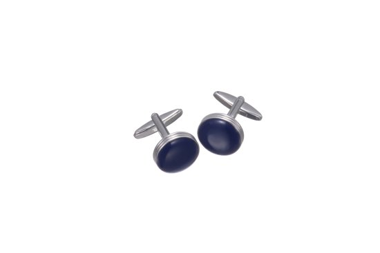 Button Cufflinks Manchetknopen  Steen - zilver - cadeauzakje