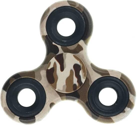 Hand Spinner Camouflage Bruin motief