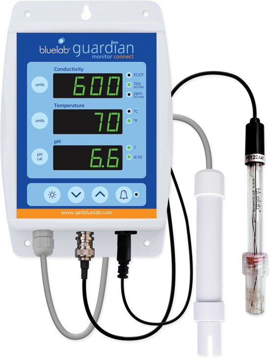Bluelab, GUARDIAN Connect, pH/EC/temp continu meter