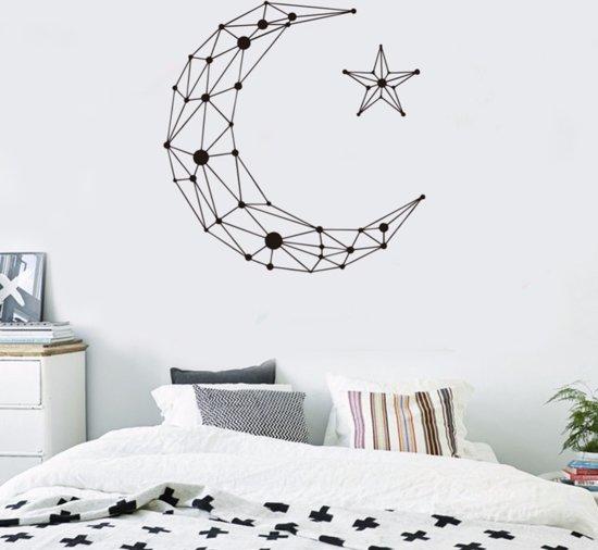 muursticker maan ster geometrisch slaapkamer kinderkamer hip modern