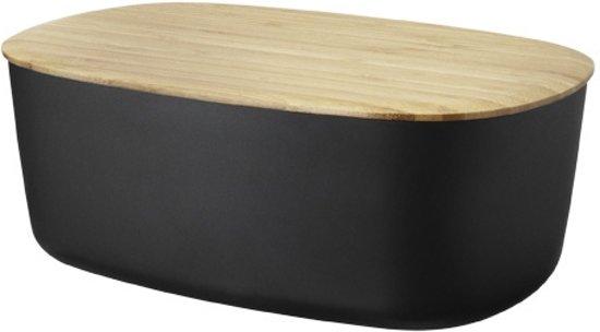 rig tig by stelton broodbox zwart. Black Bedroom Furniture Sets. Home Design Ideas