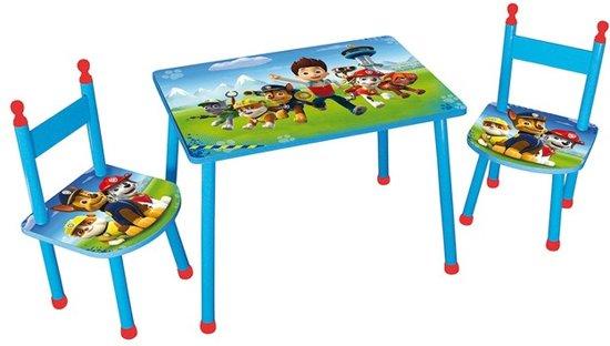 Bol.com nickelodeon tafel met 2 stoelen paw patrol blauw rood