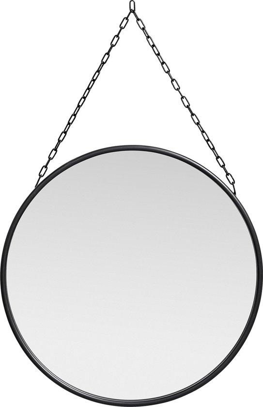 Spiegel Downtown Rond zwart \xd855x2