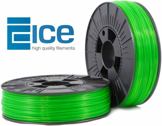 ICE Filaments ABS+ 'Transparent Gracious Green'