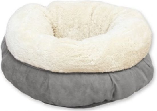 AFP Lambswool Donut Bed Grey