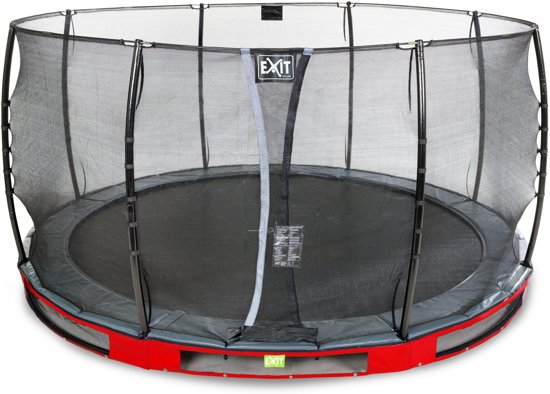 """""""EXIT Elegant Inground Trampoline à 427 cm met Veiligheidsnet """""""
