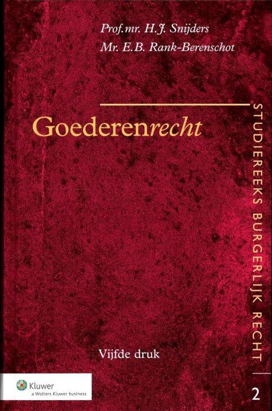 Boek cover Goederenrecht van H.J. Snijders (Hardcover)