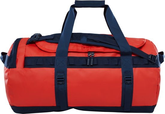 The North Face Base Camp Duffel Reistas M - 69 L - Poinciana Orange / Urban Navy - vernieuwd model