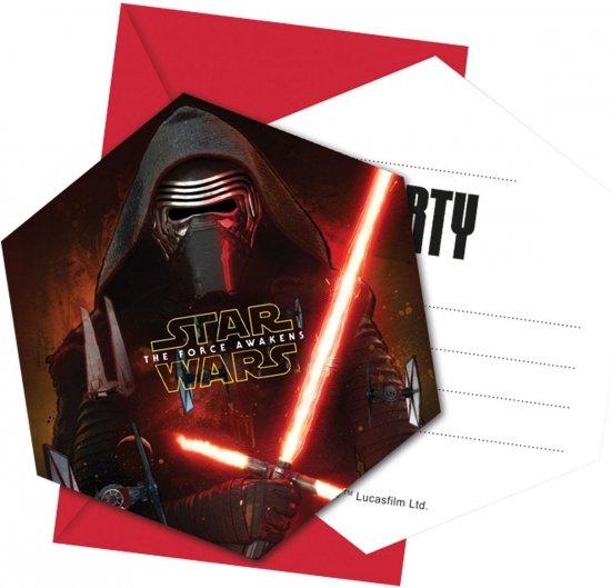 12 stuks Star Wars uitnodigingen voor een Star Wars kinderfeestje of verjaardag