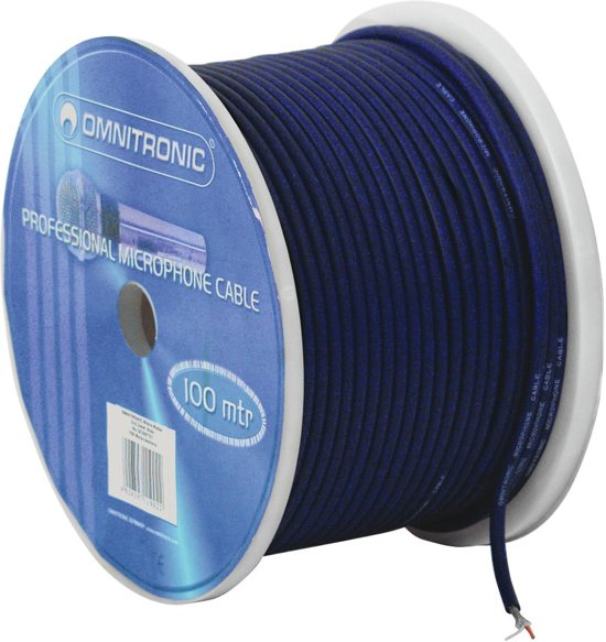 OMNITRONIC Microphone cable 2x0.22 100m bu