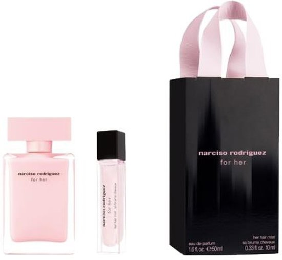 Narciso Rodriguez Eau de parfum For her 50ml eau de parfum + 10ml Hairmist Gifts ml