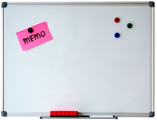Whiteboard - Magnetisch - 30 x 45 cm - Inclusief pennengoot