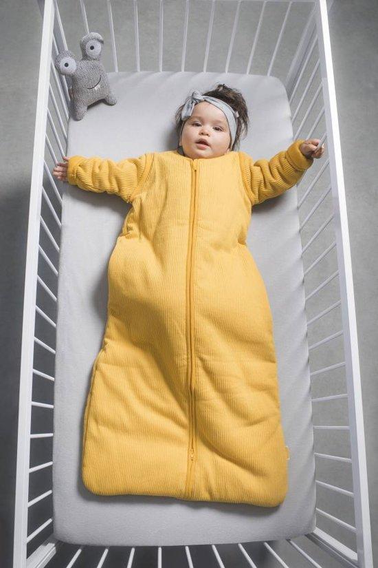 Jollein Rib Padded Babyslaapzak met afritsbare mouw - 70cm - ocher