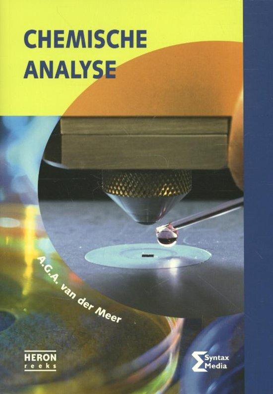 Boek cover Chemische analyse van A.G.A. van der Meer (Paperback)