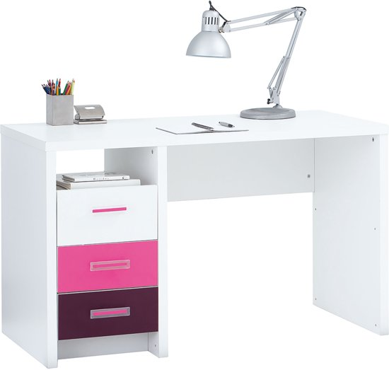 True furniture charley bureau 120 cm beuken van true for Bureau 130 cm