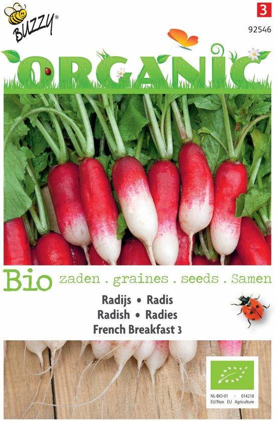 3 stuks Organic Radijs French Breakfast (Skal 14725)