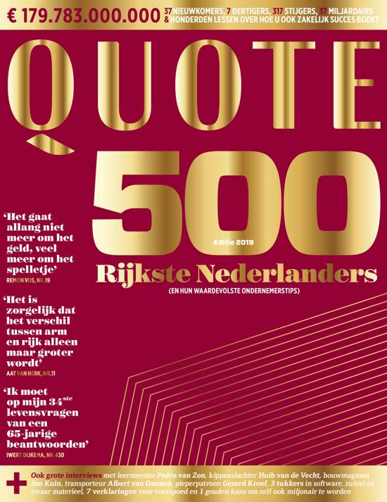 Boek cover QUOTE 500 van Hearst Magazines Netherlands (Paperback)