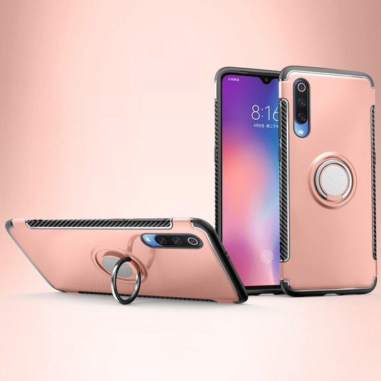 Mobigear Magnetic Ring Holder Hoesje Rose Goud Xiaomi Mi 9