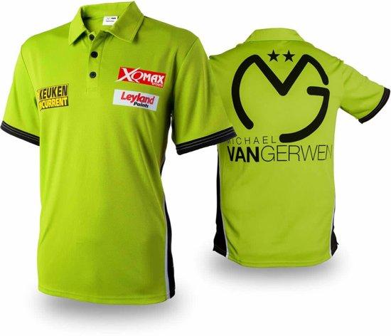 XQmax Darts MvG replica wedstrijdshirt groen maat S QD9200520