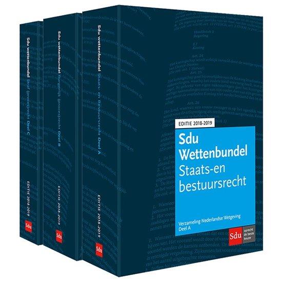 Boek cover Sdu Wettenbundel 2018-2019 (voorheen De Blauwe VNW) van  (Paperback)