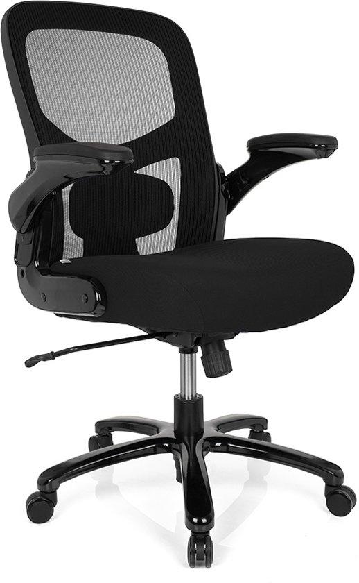 Extra Brede Bureaustoel.Bol Com Hjh Office Instructor Sw Bureaustoel Xxl Zwart