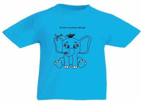 T-shirt - Pinda allergie - Katoen - Blauw