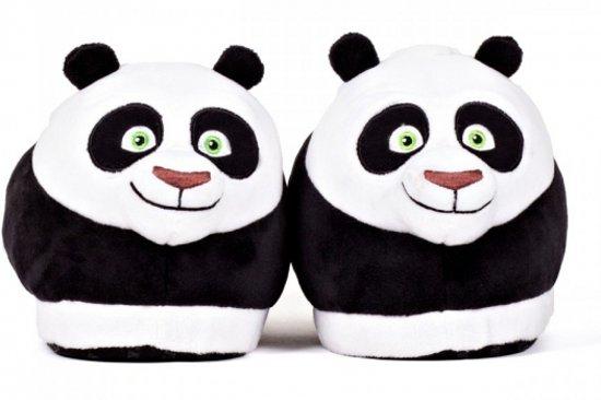 Volwassenen Kung fu panda Po sloffen / pantoffels L (39-41,5)