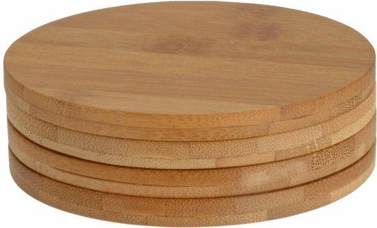 Bamboe Onderzetters - set van 4 stuks