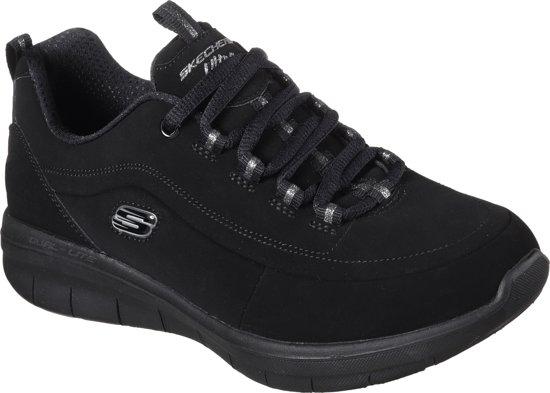 Skechers Synergy 2.0 - Side-Step Sneakers Dames - Black - Maat  38