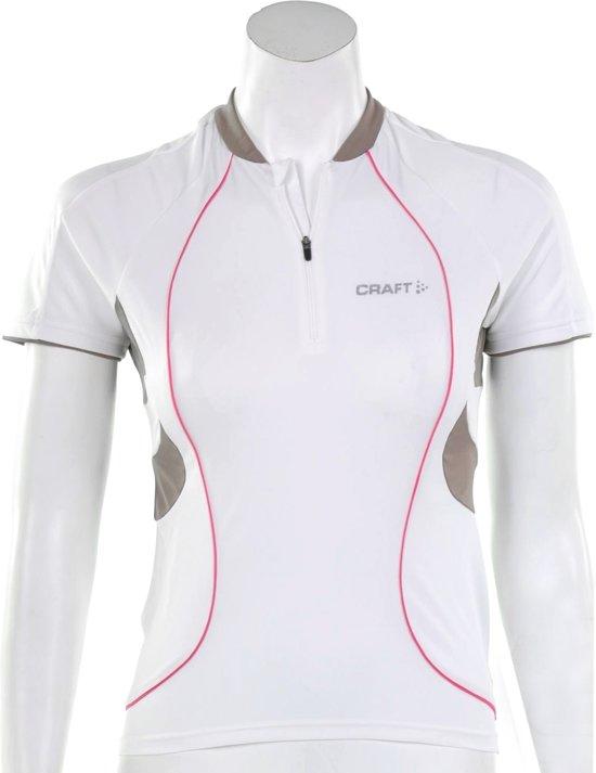 Craft Active Bike Classic Jersey Women - Sportshirt -  Dames - Maat S - Wit;Bruin;Donker Roze