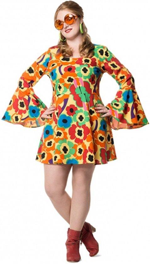 bol.com | Grote maten Flower Power jurk dames 50 (5xl ...