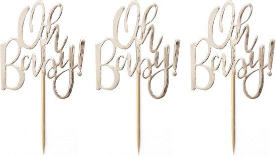 Oh Baby cupcake toppers (12 stuks) Valentinaa