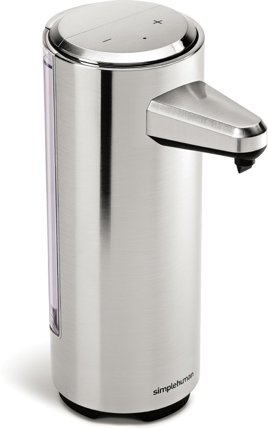 Simplehuman Zeepdispenser Sensor - Oplaadbaar - RVS - 237 ml - Zilver
