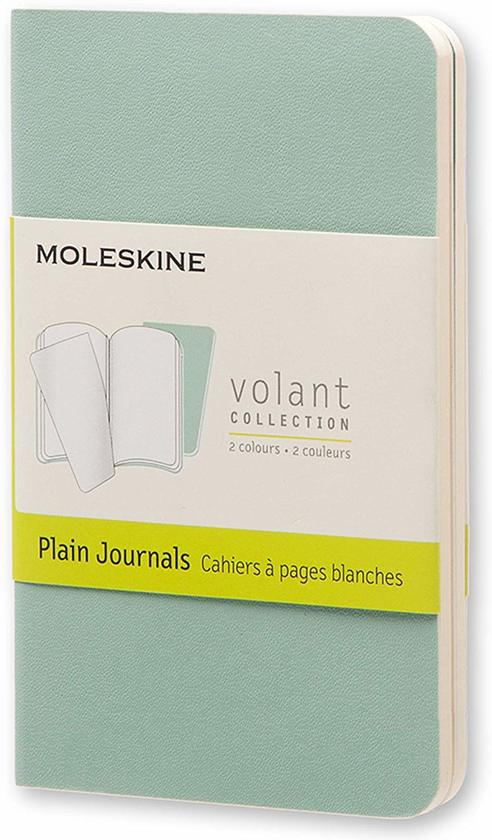 Moleskine Volant Journal (set of 2) Sage Green/Seaweed Green extra small plain unruled