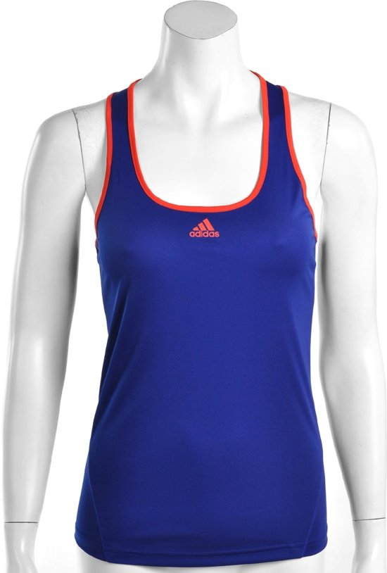 32e8686ec5b adidas Women's Response Classical Tanktop - Sporttop - Dames - Maat L -  Paars Blauw;