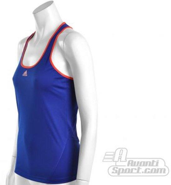 adidas Women's Response Classical Tanktop Sporttop Dames Maat L Paars Blauw;Fluor Rood