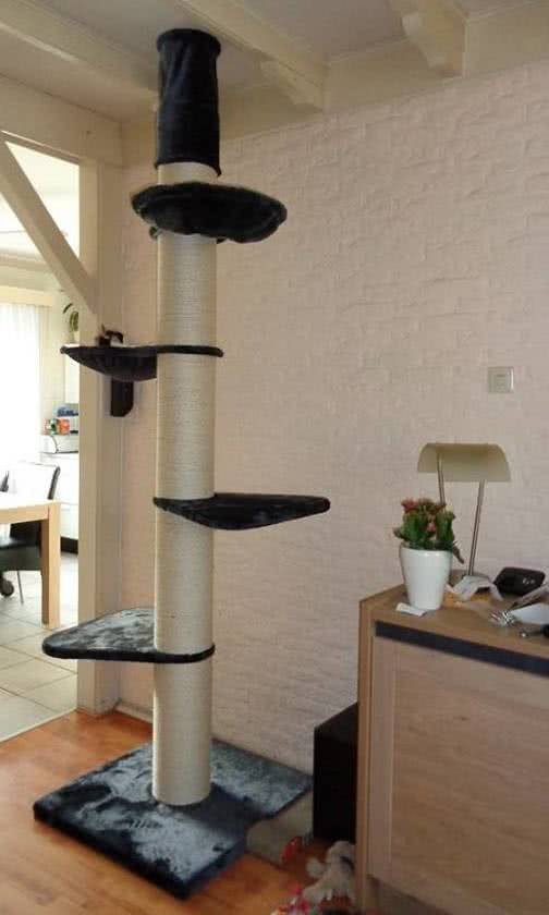 RHRQuality Krabpaal Maine Coon Tower Antraciet