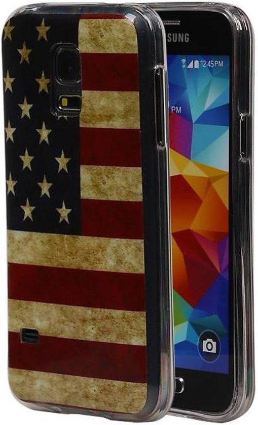 bol | samsung galaxy s5 mini hoesje amerikaanse vlag tpu usa