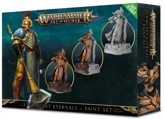 Afbeelding van Warhammer age of sigmar- Stormcast eternals + paint set speelgoed